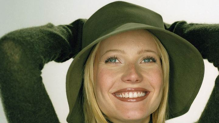 Gwyneth Paltrow In Green Hat At Robert Fleischauer Photoshoot